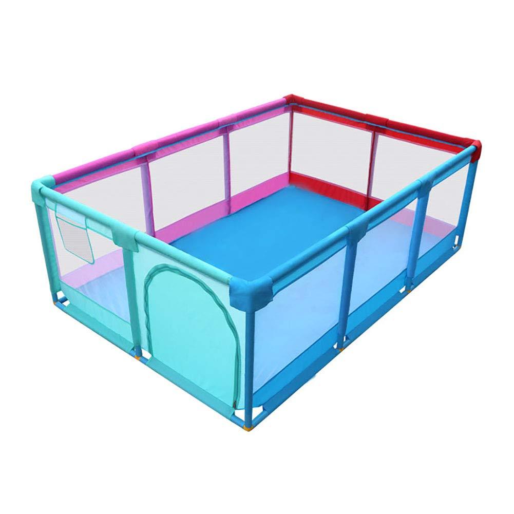 格安人気 セーフティベビープレイペンドア、エクストラロングアンチロールオーバー幼児のプレイヤード、屋内/屋外の遊びゲームフェンス、128×190×66cm B07KMC8B6C B07KMC8B6C, MOTOBLUEZ(モトブルーズ):47531ce1 --- a0267596.xsph.ru