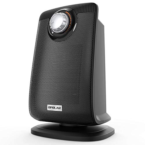 OPOLAR Space Ceramic Bathroom Heater with IP21 Water-Proof for Home & Office, Fast Heating & Auto Oscillation, Portable, Adjustable Thermostat, 1500W Black (Best Bathroom Safe Space Heater)