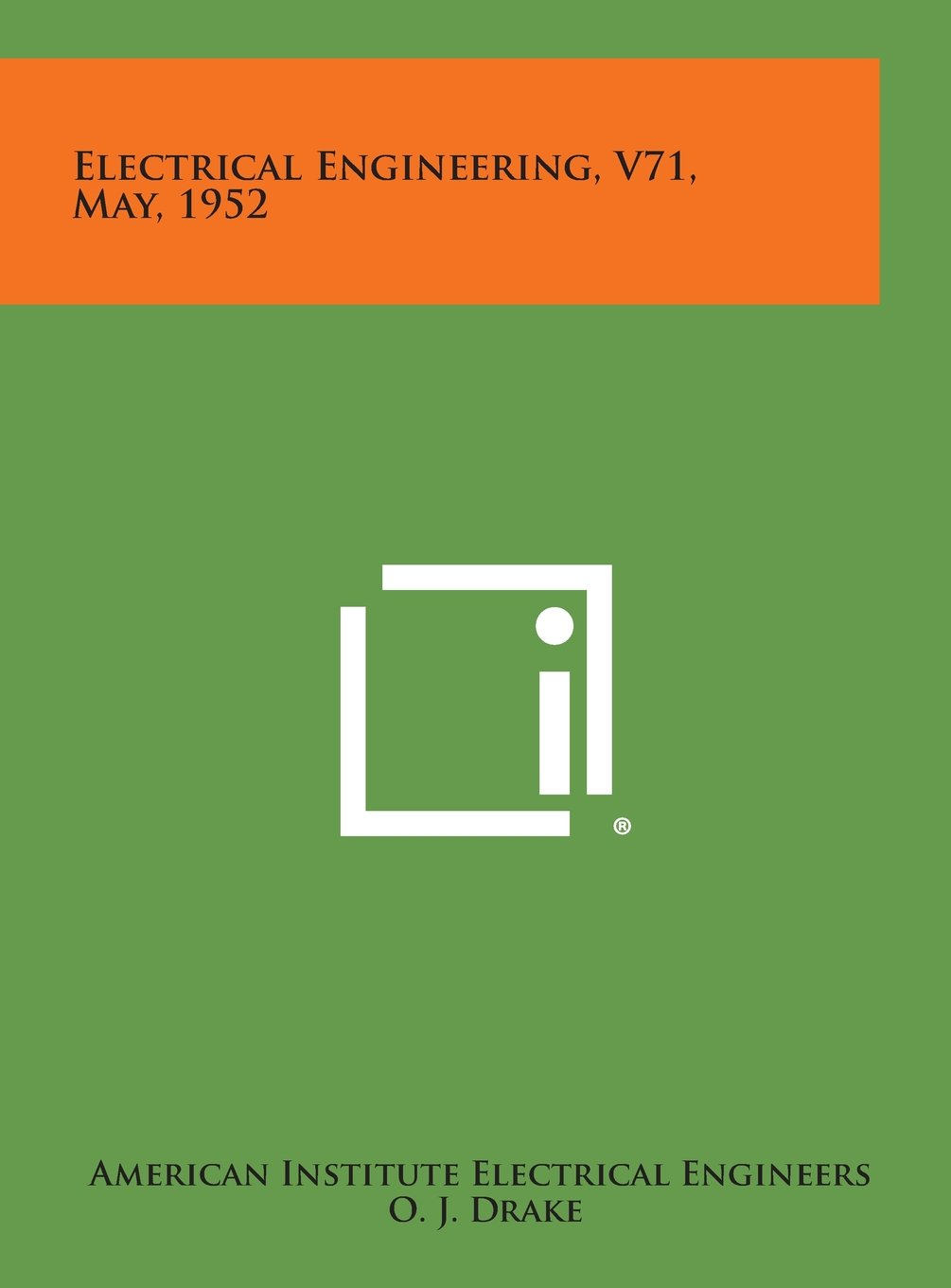 Download Electrical Engineering, V71, May, 1952 pdf