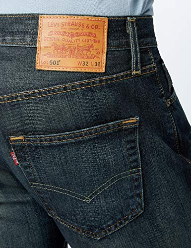 Clean Original l32 Straight dark Fit Levi's 501 0089 Uomo W30 Jeans Blu Rq5Z48xpw