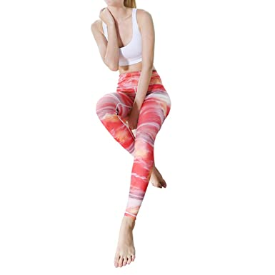 a7c9bb09f9b2b Goodstoworld Women 3D Printed Yoga Pants High Waist Running Tights Elastic Gym  Workout Leggings: Amazon.co.uk: Clothing