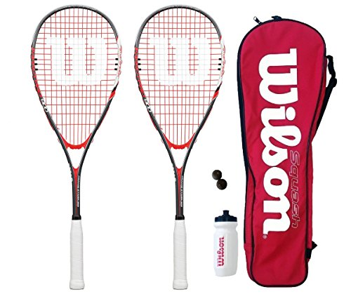 Wilson Hyper Team 500 Squash Racket Set With Squash Balls & Waterbottle – DiZiSports Store