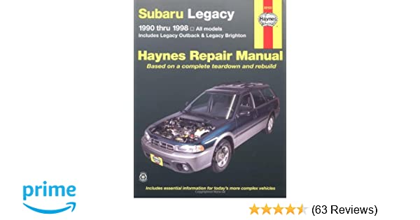 subaru legacy 1990 1998 includes legacy outback and legacy rh amazon com 1998 subaru legacy owner's manual 98 subaru legacy service manual pdf