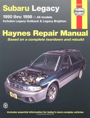 subaru legacy 1990 1998 includes legacy outback and legacy rh amazon com Subaru Outback Subaru Legacy