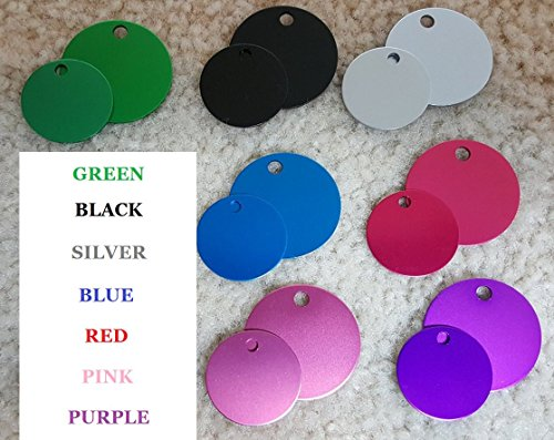 51 orMHqzTL - Vet Recommended Pet ID Tag Dog and Cat Personalized | Many Shapes and Colors to Choose From! | MADE IN USA, Strong Anodized Aluminum