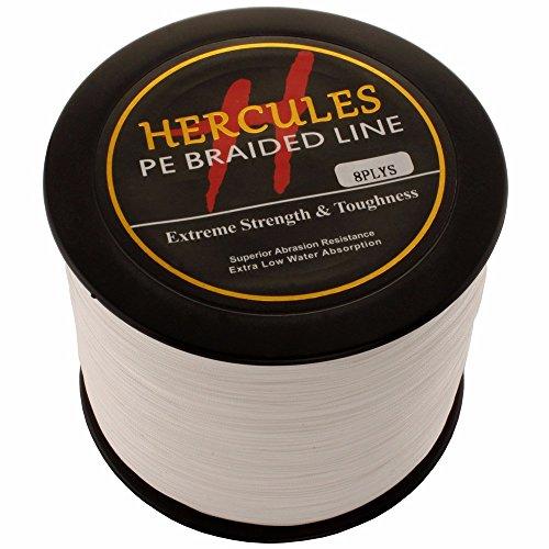 HERCULES 1000m 1094yds White 10lbs-300lbs Pe Braid Fishing Line 8 Strands (100lb/45.4kg 0.55mm)
