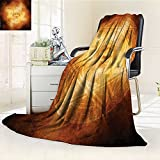 AmaPark Throw Blanket Demon Trap Symbol Logo Ceremony Creepy Ritual Paranormal Design Orange Velvet Plush Throw Blanket