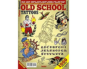 Amazon.com: OLD SCHOOL Tattoos Flash Design Book 64-Pages: Health ...