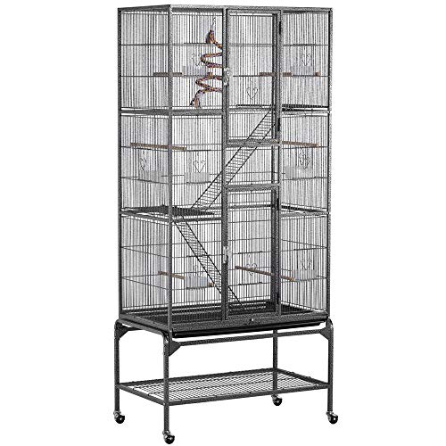 Yaheetech 69-Inch Extra Large Wrought Iron 3 Levels Ferret Chinchilla Sugar Glider Squirrel Small Animal Cage with Cross Shelves and Ladders from Yaheetech
