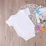 Newborn Baby Girls Romper Tops White Shirt Sisters