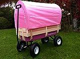 Tuff Terrain Girls Pink Canopy Wagon Trailer