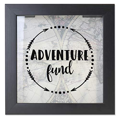 Lawrence Frames 8x8 Adventure Fund Black Shadow Box Frame