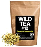Organic Chamomile Tea, Premium Loose Leaf Herbal Chamomile Flower Tea, Sweet Chamomile Wild Tea #10 by Wild Foods (4 ounce)