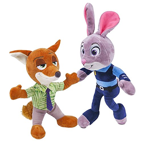 Movie Zootopia Children Kids Plush Toys Rabbit Judy Hopps Nick Wilde Cotton Stuffed Doll