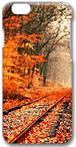 Abandoned Railroad Tracks In Autumn Apple iPhone 6 Plus Case, 3D iPhone 6 Plus Cases Hard Shell Cover Skin Casess