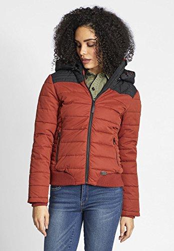 mujer Rojo khujo Manga Básico chaqueta Chaqueta Larga guateada Oscuro para qvqpUCwn