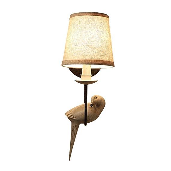 Amazon.com: ZH Wall Lamp American Bedroom Bedside Single ...