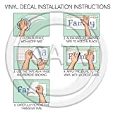 Softball Vinyl Lettering Wall Decal Sticker