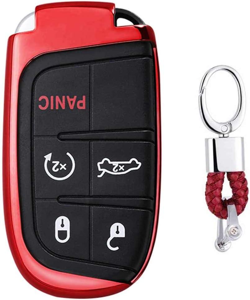 Rot Car Keyless Entry Key Cover Fall Für Jeep Grand Elektronik