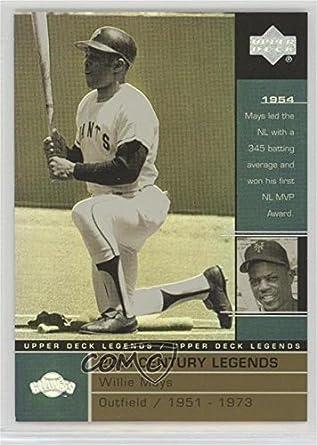 Amazon com: Willie Mays (Baseball Card) 2000 Upper Deck
