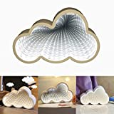 LED Tunnel Light Magic Infinity Mirror Light Battery Operated for Wedding, Birthday Party, Night Light, Gift, Indoor DIY Decoration (White, Cloud Light)
