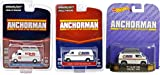 Will Ferrell Comedy Van Collection - Anchorman Set Retro Entertainment Hot Wheels Greenlight Dodge Van News 4 & Channel 9 Ron Burgandy 2014