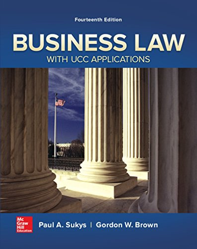Pdf Law Business Law with UCC Applications