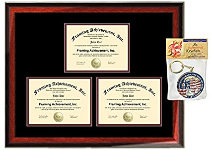 Triple Document Holder 3 Certificate Frame Three Certification ...