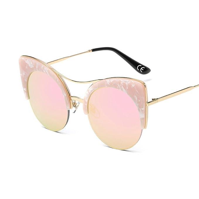 91dffe8a6c BVAGSS Ojo De Gato Gafas De Sol Para Mujeres Marco Redondo De Metal Lente  Colorido Gafas