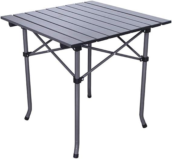 WGHYSAPT Mesa Plegable Mesa de Aluminio para el Aire Libre ...