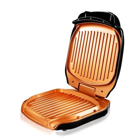 Gotham Steel Non-stick Copper Electric Sandwich Folding Grill - As Seen on TV!