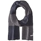 Perry Ellis Men's Birdseye Knit Scarf, Dark Sapphire, One Size
