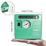 Jump Starter and Air Compressor, Smart Jump Clamps 13000 mAh Li-ion Battery Auto Booster Jump Box Power Pack, 2 USB Ports with 2 LED Lights Portable Car Battery Starter with Compressor, by JF.EGWO