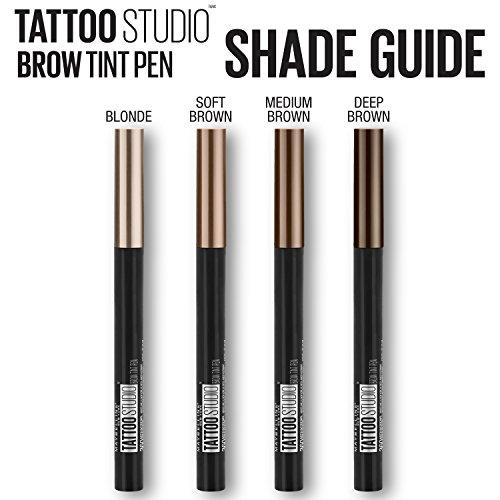f7ca87e18a8 Amazon.com: Maybelline New York TattooStudio Brow Tint Pen Makeup: Beauty