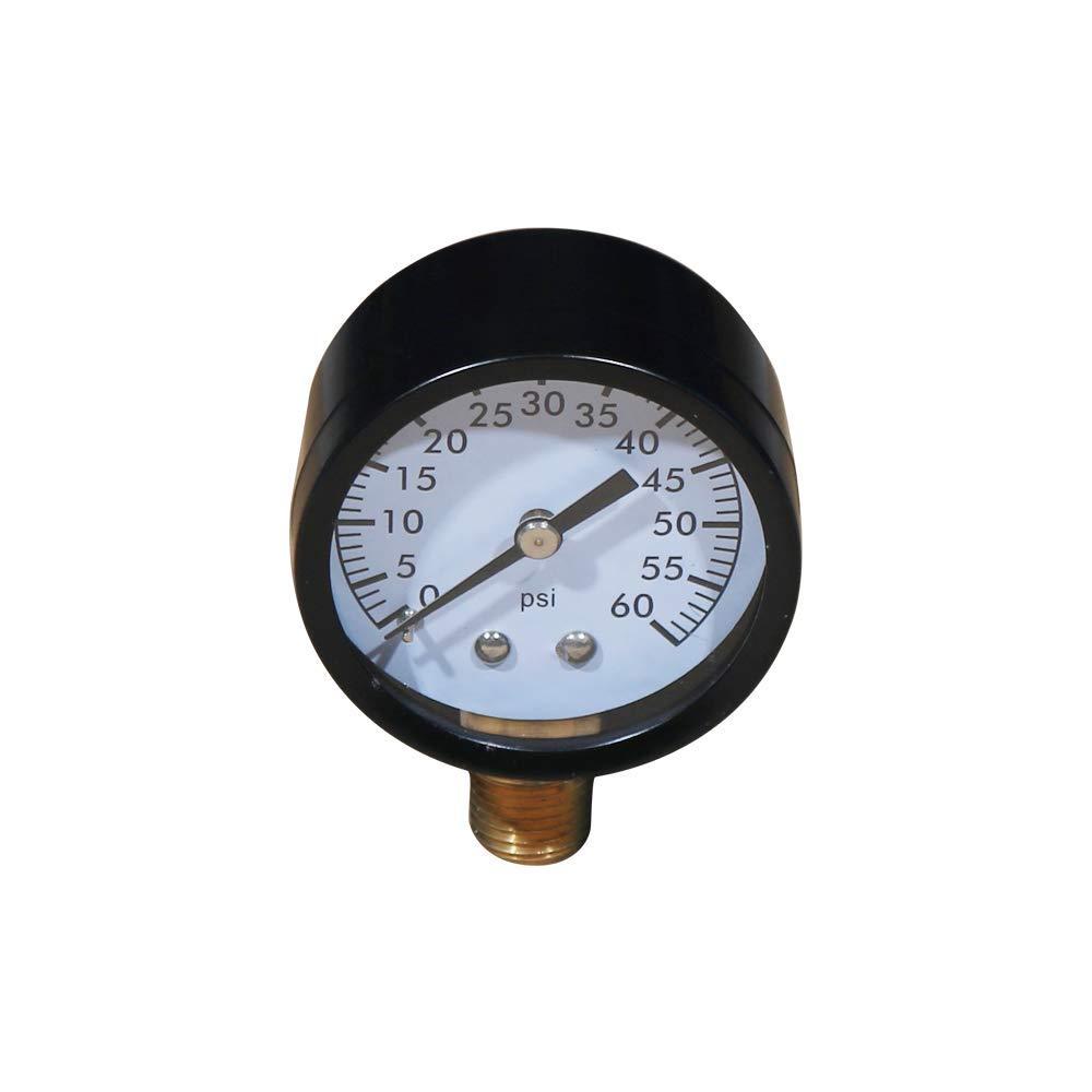 Daveyspa Pool and Spa Filter Pressure Gauge 0-100 PSI 1//4 NPT Lower Mount Pressure Gauge for Water Gas 60Psi Oil
