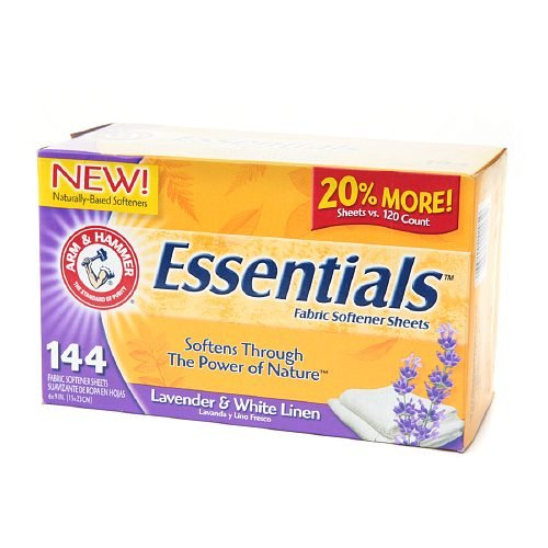 8 PACK OF Arm & Hammer Essentials Fabric Softener Sheets, La