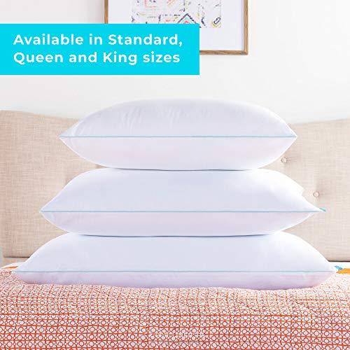 LinenSpa Shredded Memory Foam Pillow with Gel Memory Foam, Queen