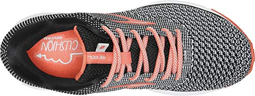 Brooks Women's Revel 2 Black/Light Grey/Coral 5 B US by Brooks (Image #1)