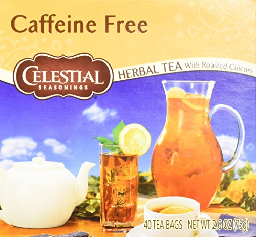 Celestial Seasonings Black Caffeine Free Tea (Celestial Seasonings Herbal Tea, Caffeine Free with Roasted Chicory, 40 Count (Pack of 6))