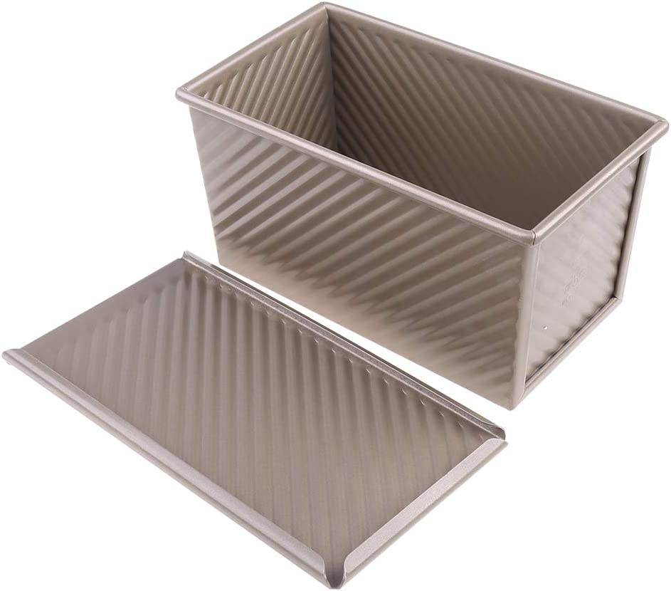 qingqingR Pan Tostado Molde Antiadherente Pan con Tapa Herramienta para Hornear Bricolaje para Pasteles caseros