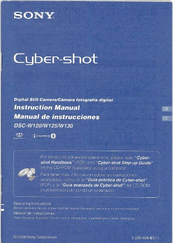 Sony Cyber-Shot DSC-W120/W125/W130 Original Instruction Manual