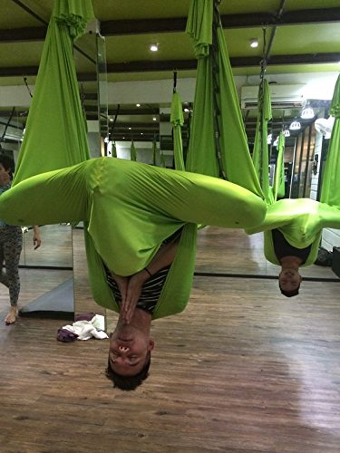 Dasking Premium Aerial Yoga Hammock Kit (Lemon Lime)