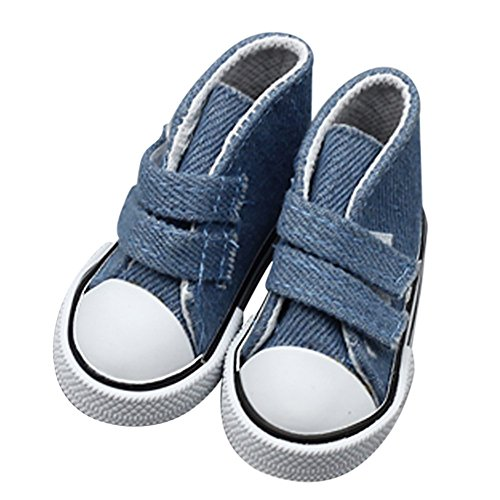 KXN Stylish 18 Inch Doll Sneakers, Sneaker Doll Shoes with Magic Sticker Fits 18 Inch American Girl Dolls,Doll Accessories (Navy)