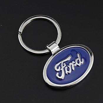For Ford Car Logo Keychain Keyfob 3D Chrome Metal Car key Chain keyring