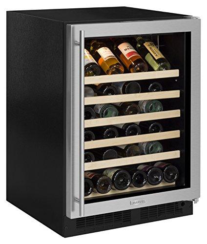 Marvel 24' Wine Cellar, stainless steel frame glass door, right hinge