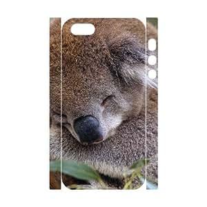 3D Bumper Plastic Customized Case Of Koala for iPhone 5,5S wangjiang maoyi