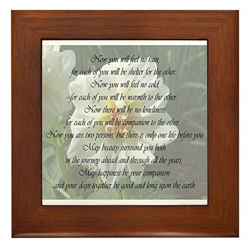 CafePress - Apache Marriage Blessing Framed Tile - Framed Tile, Decorative Tile Wall - Marriage Framed