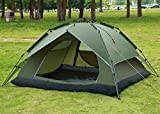 Waterproof Double layer Automatic Outdoor 2-4 Person Instant Camping Family Tent: Extremely fast set up and fold down - only takes 1 minute : Ideal for camping and outdoor activities. High density and rip-stop 190T polyester rainfly and 150D oxford w...