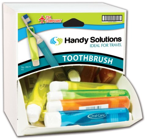 Handy Solutions Travel Toothbrush Dispensit Case 216 pcs sku# 1865479MA