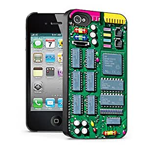Technology Pattern 3D Effect Case for iPhone4/4S